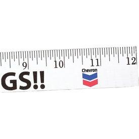 """Logo 12"""" Enamel Wood Ruler - English Scale"""