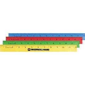 "Enamel English Scale Wood Ruler (12"")"