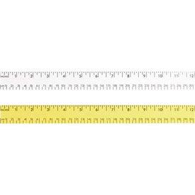 "Monogrammed 12"" Enamel Wood Ruler - English and Metric Scale"