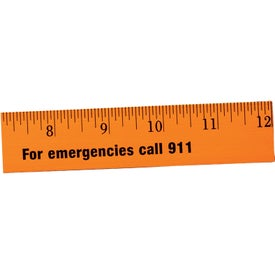 """12"""" Fluorescent Wood Ruler - English Scale for your School"""