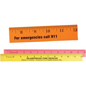 "Fluorescent English Scale Wood Ruler (12"")"