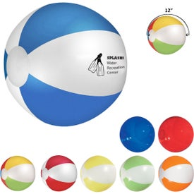 "Beach Ball (12"", Pad Print, Colors)"