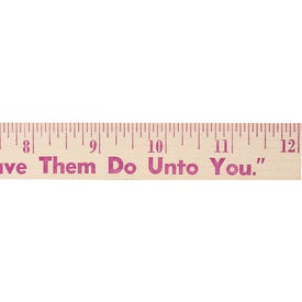 "12"" Natural Finish Wood Ruler"