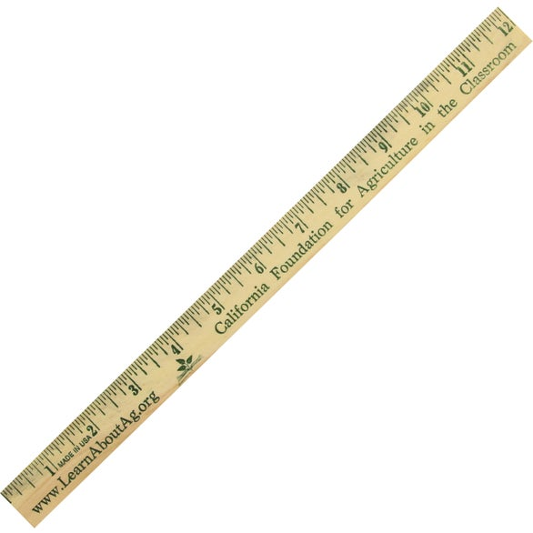 Natural Finish Wood Ruler English Scale