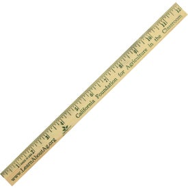 "Wood Ruler English Scale (12"")"
