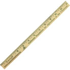 "12"" Natural Finish Wood Ruler English Scale"