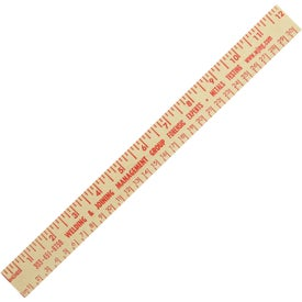 """12"""" Natural Finish Wood Ruler English and Metric Scale"""
