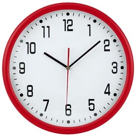 "Company 12"" Round Thin Frame Wall Clock"