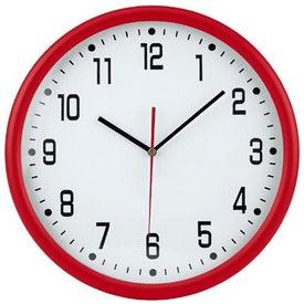 """Company 12"""" Round Thin Frame Wall Clock"""