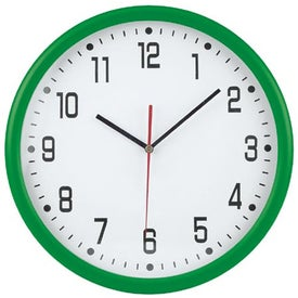 "Imprinted 12"" Round Thin Frame Wall Clock"