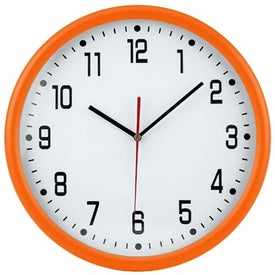 """12"""" Round Thin Frame Wall Clock Printed with Your Logo"""