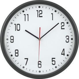 "12"" Round Thin Frame Wall Clock for Advertising"
