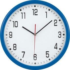 "Customized 12"" Round Thin Frame Wall Clock"