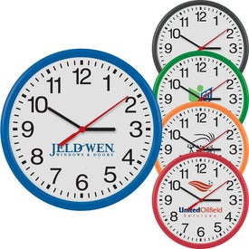 "12"" Round Thin Frame Wall Clock"