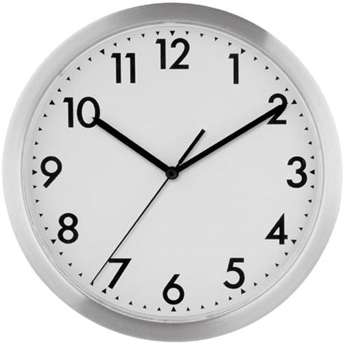 12 Slim Metal Wall Clock