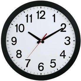 "12"" Slim Wall Clock for Your Organization"