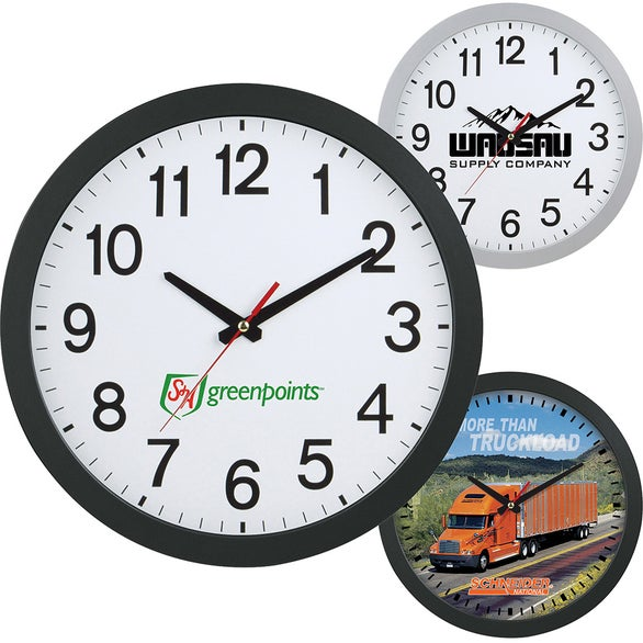 """12"""" Slim Wall Clock 