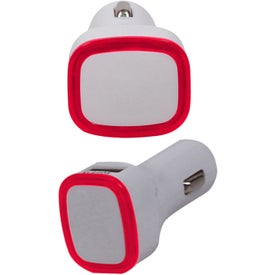 Branded 2 in 1 USB Car Adapter