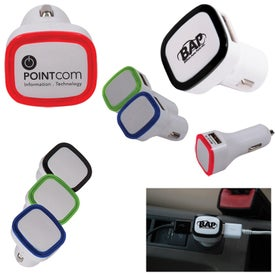 Monogrammed 2 in 1 USB Car Adapter