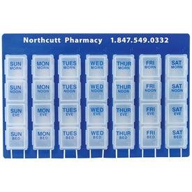 28 Slot Pillbox for Advertising