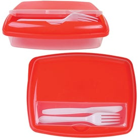 Dual Compartment Lunch Box with Your Logo