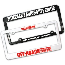 2 Holes License Plate Frame