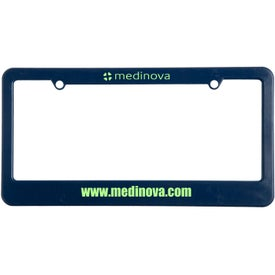 Company 2 Holes with Straight Bottom License Plate