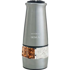 Imprinted 2-in-1 Electric Salt and Pepper Mill