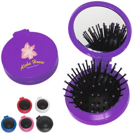2 in 1 Brush and Mirror Compact Kit
