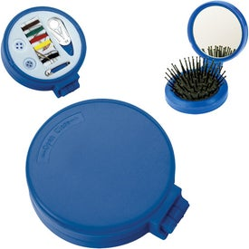 3-1 Sewing Kit with Mirror and Brush for Advertising