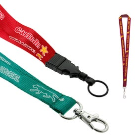 "Customized 3/4"" Nylon Lanyard"