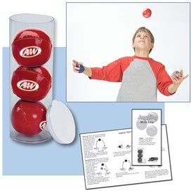 3-Ball Juggling Set in Case for Your Company