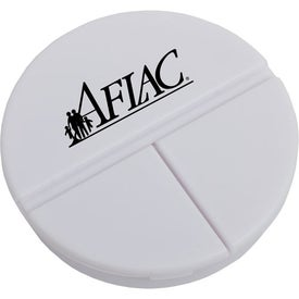 3 Compartment Round Pill Case Branded with Your Logo