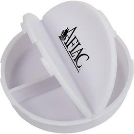 Company 3 Compartment Round Pill Case