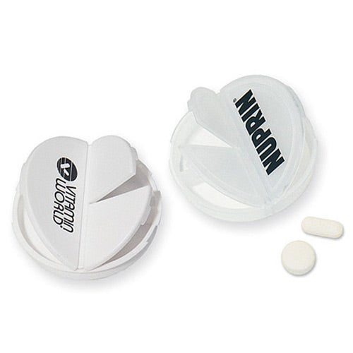 3 Compartment Round Pill Case