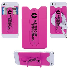 Promotional 3-In-1 Cell Phone Card Holder