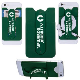 Logo 3-In-1 Cell Phone Card Holder