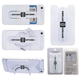 3-In-1 Cell Phone Card Holder With Packaging for Marketing