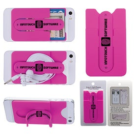 3-In-1 Cell Phone Card Holder With Packaging for Your Organization