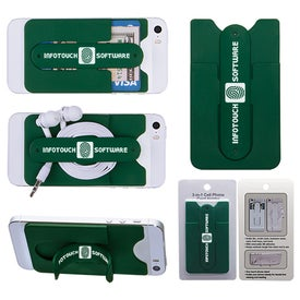 3-In-1 Cell Phone Card Holder With Packaging for Customization
