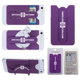 Custom 3-In-1 Cell Phone Card Holder With Packaging