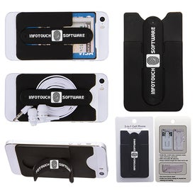 3-In-1 Cell Phone Card Holder With Packaging Giveaways