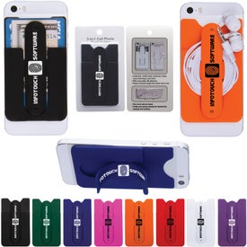 3-In-1 Cell Phone Card Holder With Packaging for Advertising