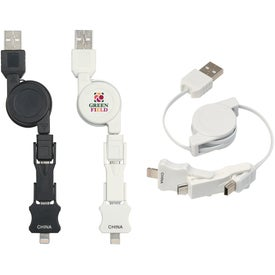 3 in 1 iPhone 5 Charging Cable for Promotion