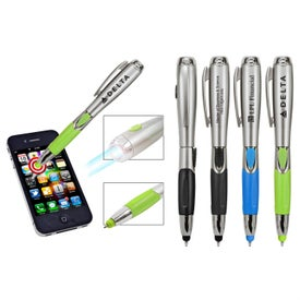 3 In 1 Stylus Pen and Light with Your Slogan