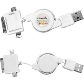 Personalized 3 In 1 USB Retracting Adapter Cable