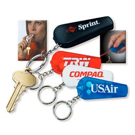 3 In 1 Whistle Key Light Keychain