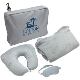 3 Piece Travel Pillow and Blanket Set