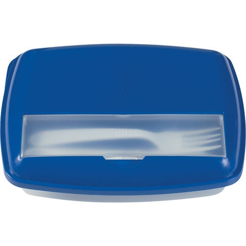 Blue / Clear 3 Section Lunch Container