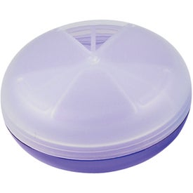 Imprinted 3-Section Pill Holder